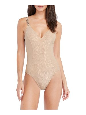 Robin Piccone eve scoop neck one-piece swimsuit