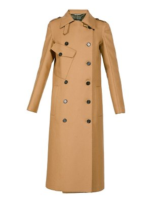 Rochas double breasted wool blend trench coat