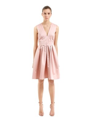 Rochas Pleated duchesse satin dress