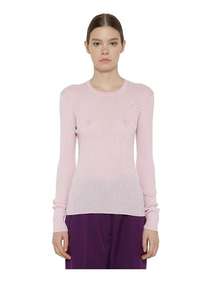 Rochas Wool rib knit sweater