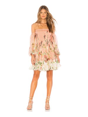 ROCOCO SAND Off Shoulder Short Dress