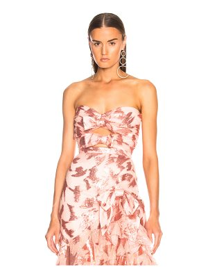 Rodarte Sequin & Tulle Strapless Bustier with Bow Details