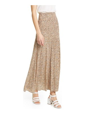RODEBJER hayly spot print smocked waist maxi skirt