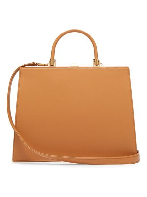 Rodo frame top handle leather bag