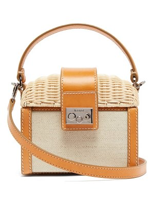 Rodo wicker and canvas clutch bag