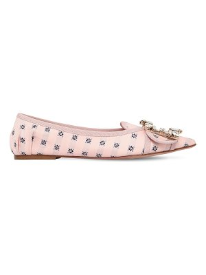 Roger Vivier 10mm buckle printed flats