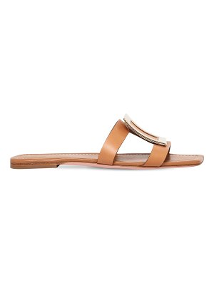 Roger Vivier 10mm leather slide sandals w/ buckle