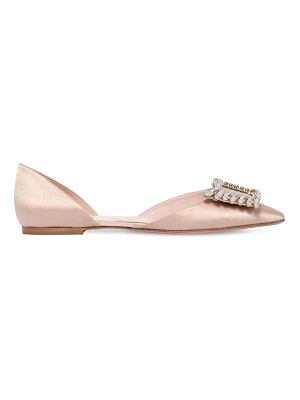 Roger Vivier 10mm wings buckle satin d'orsay flats