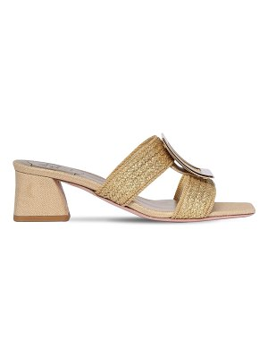 Roger Vivier 45mm metallic linen slides
