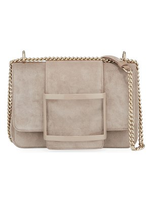 Roger Vivier Belle de Jour Suede Shoulder Bag