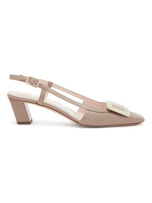 Roger Vivier belle vivier buckle patent-leather slingback pumps