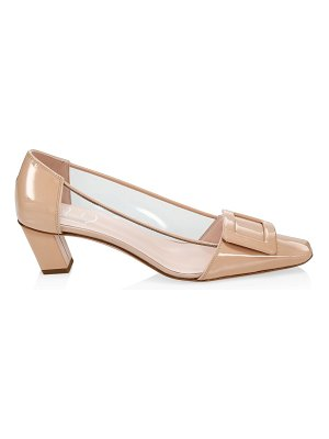 Roger Vivier belle vivier translucent & patent leather pumps
