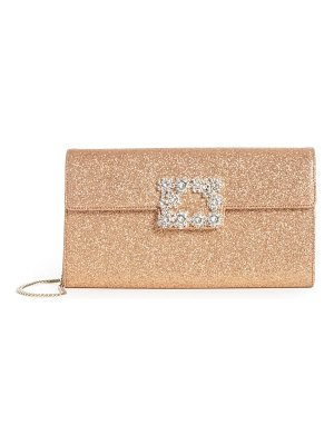 Roger Vivier crystal buckle glitter shoulder bag