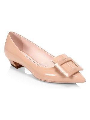 Roger Vivier gommettine patent leather flats