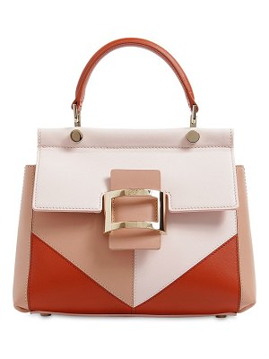 Roger Vivier Mini viv' leather top handle bag