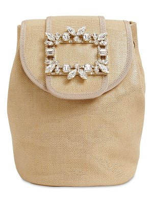 Roger Vivier Rv broche mini lamè backpack