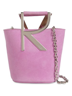 Roger Vivier Rv suede bucket bag