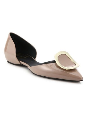 Roger Vivier sexy choc patent leather d'orsay flats
