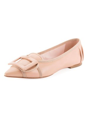 Roger Vivier Soft Gommettine Ballet Flats with Lacquered Buckle