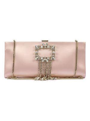 Roger Vivier Broche Buckle Pendant Clutch Bag