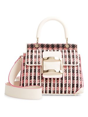 Roger Vivier tweed shirting satchel