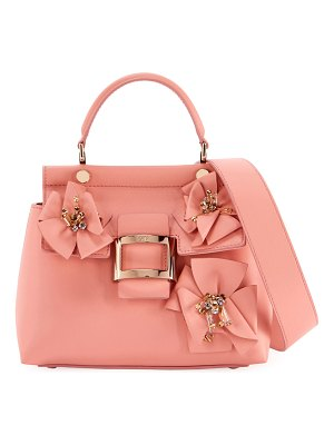 Roger Vivier Viv Flower Patch Cabas Mini Satchel Bag