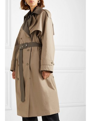 Rokh belted layered two-tone cotton-gabardine trench coat