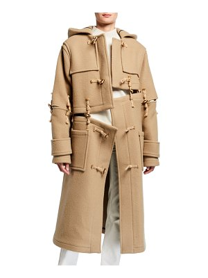 Rokh Deconstructed Wool Oversized Duffle Coat