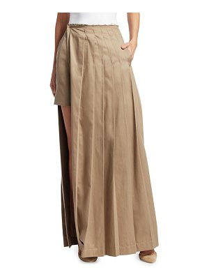 Rokh long layered kilt skirt