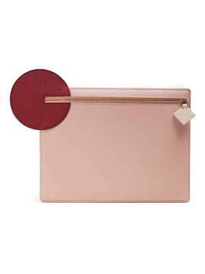 Roksanda Aplin pebbled-leather pouch