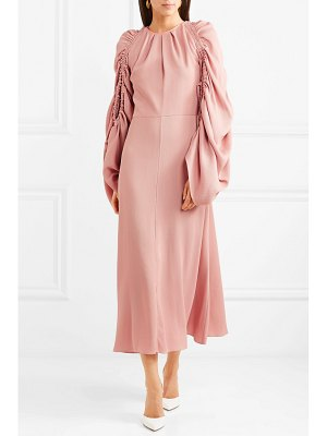 Roksanda aruna draped piqué midi dress