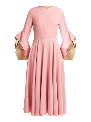 Roksanda Flared Sleeve Cady Dress