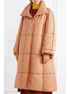Roksanda maera oversized quilted cotton-canvas coat