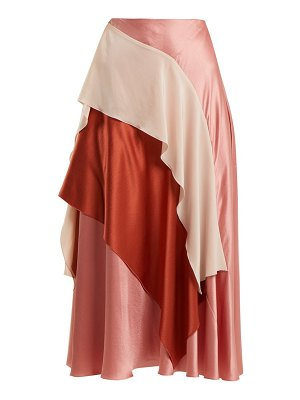 Roksanda mahria asymmetric silk satin skirt