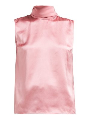 Roksanda merla neck tie silk top