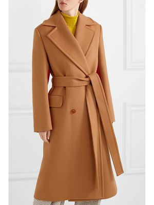 Roksanda nate two-tone wool and cashmere-blend coat