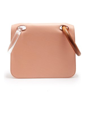 Roksanda Neneh Wooden Handle Leather Clutch