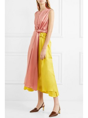 Roksanda nyimi color-block silk midi dress