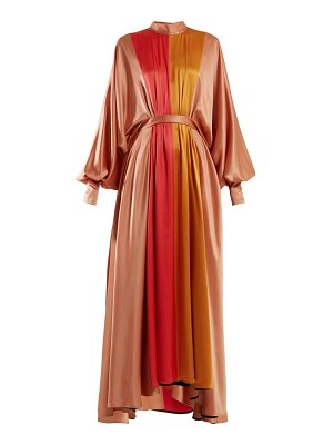 Roksanda samia panelled silk maxi dress