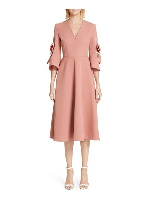 Roksanda sibella bow trim dress