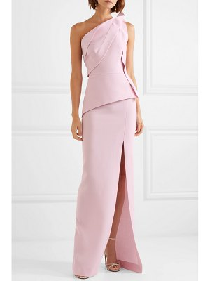 Roland Mouret acosta one-shoulder wool-crepe gown