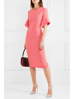 Roland Mouret bancroft wool-crepe midi dress