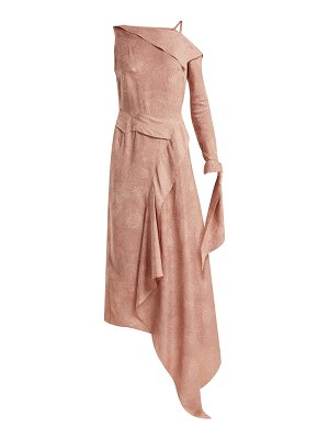 Roland Mouret bruce draped silk-blend jacquard dress