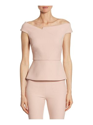 ROLAND MOURET Elmswell Off-Shoulder Asymmetrical Top