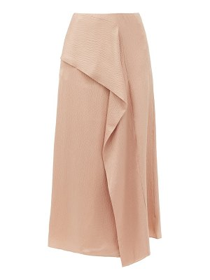 Roland Mouret falun draped hammered-silk skirt