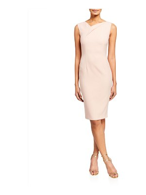 Roland Mouret Grainger Crepe Fold-Neck Dress