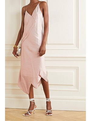 Roland Mouret jimboy asymmetric silk-blend lurex midi dress