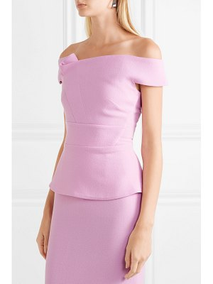 Roland Mouret off-the-shoulder wool-crepe top