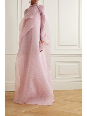 Roland Mouret panska draped cape-effect silk-blend organza-jacquard gown