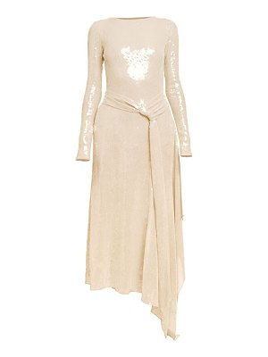 Roland Mouret angelo stretch sequin long-sleeve midi dress